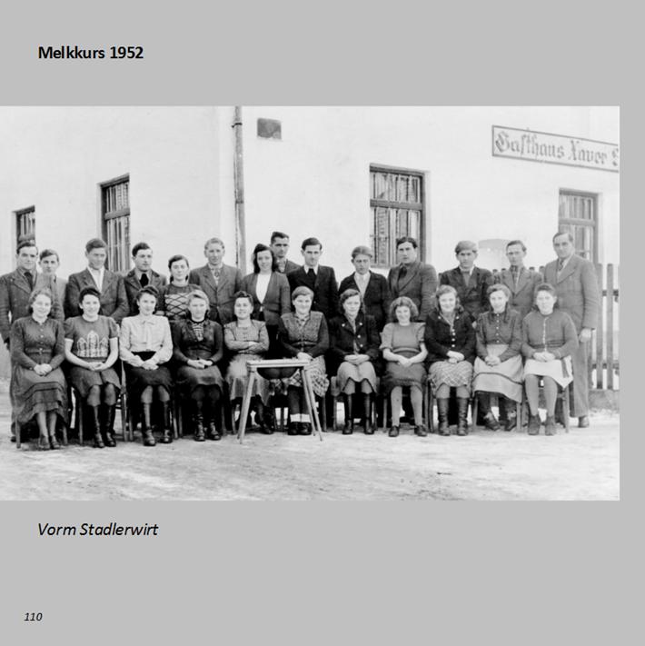 Melkkurs vorm Stadlerwirt in Ottmaring 1952