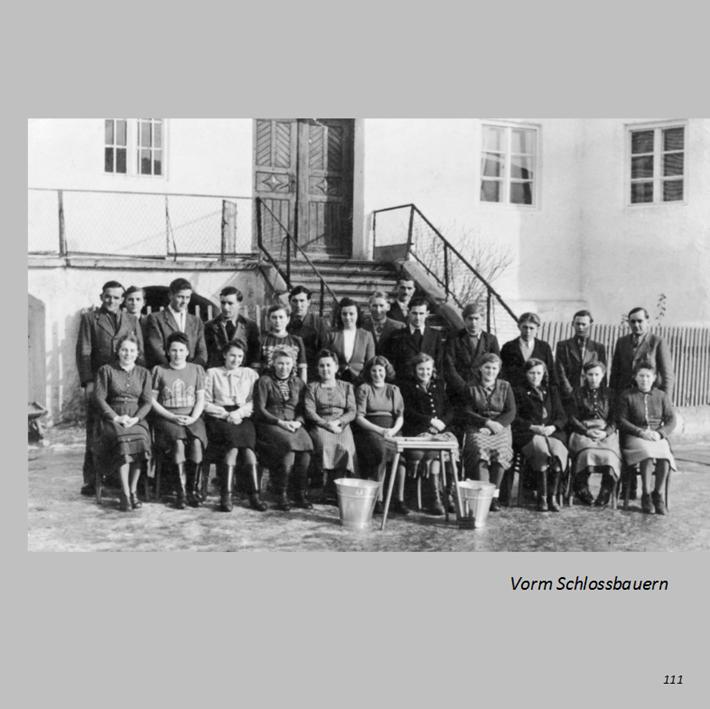 Melkkurs vorm Schlossbauern in Ottmaring 1952