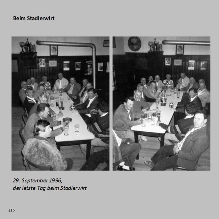 29. September 1996, der letzte Tag beim Stadlerwirt in Ottmaring