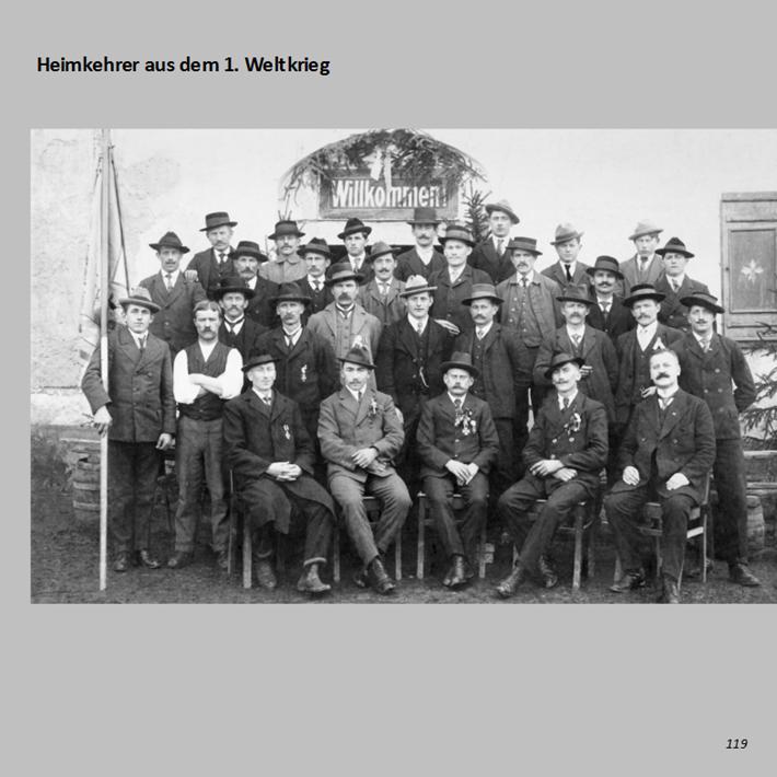 Heimkehrer aus dem 1. Weltkrieg in Ottmaring