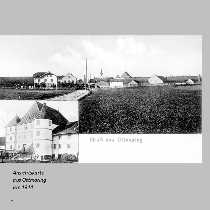 Ansichtskarte aus Ottmaring um 1955