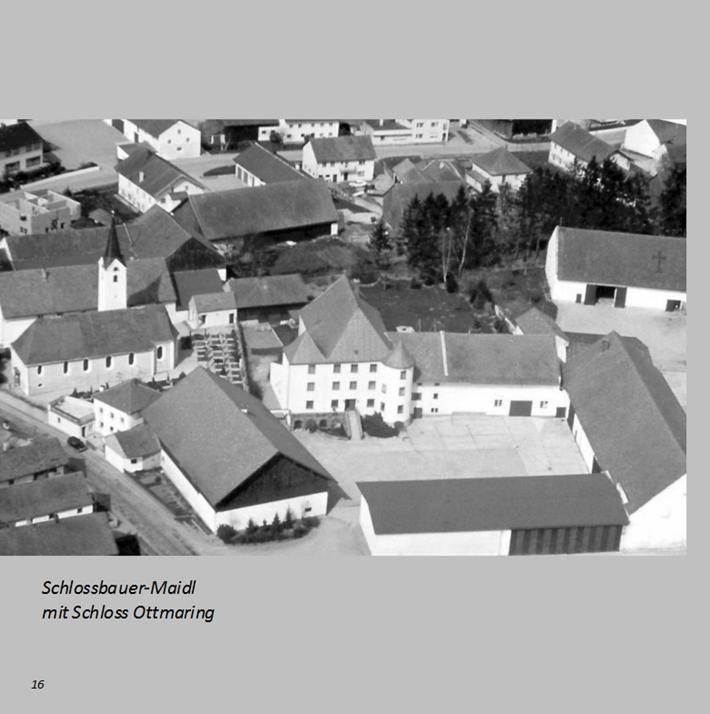 Schlossbauer-Maidl mit Schloss Ottmaring