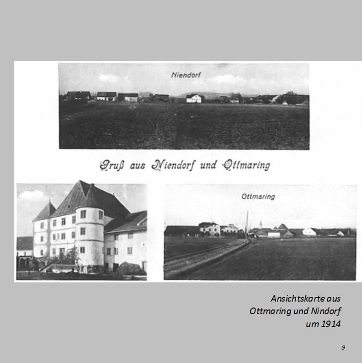 Ansichtskarte aus Ottmaring und Nindorf um 1914