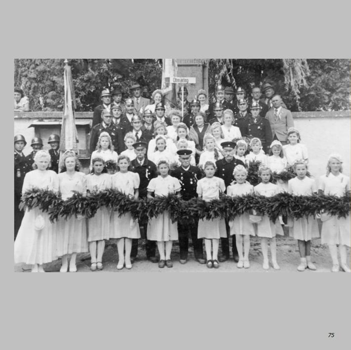 Feuerwehrjubiläum in Ottmaring 1949