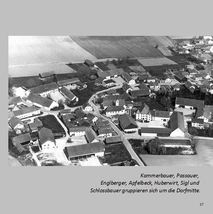 Kammerbauer, Passauer, Englberger, Apfelbeck, Huberwirt, Sigl und Schlossbauer gruppieren sich um die Dorfmitte