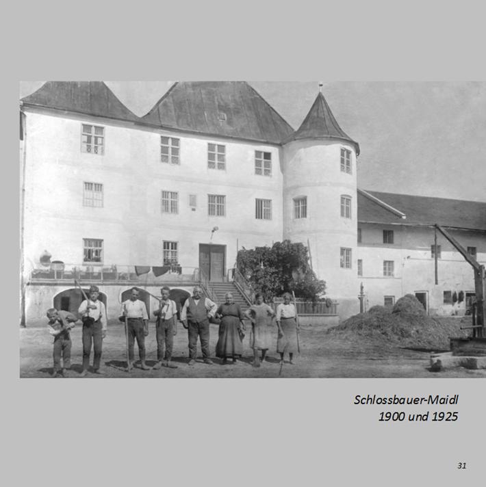 Schlossbauer-Maidl in Ottmaring 1925