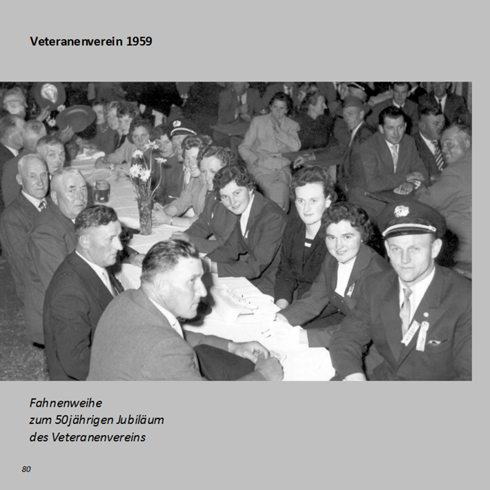 Veteranenverein in Ottmaring 1959