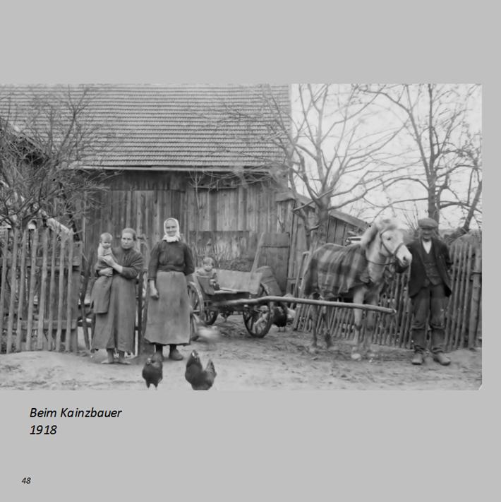 Beim Kainzbauer in Ottmaring 1918