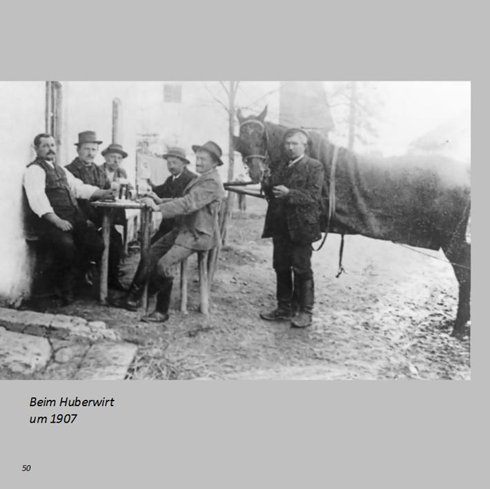 Beim Huberwirt in Ottmaring um 1907