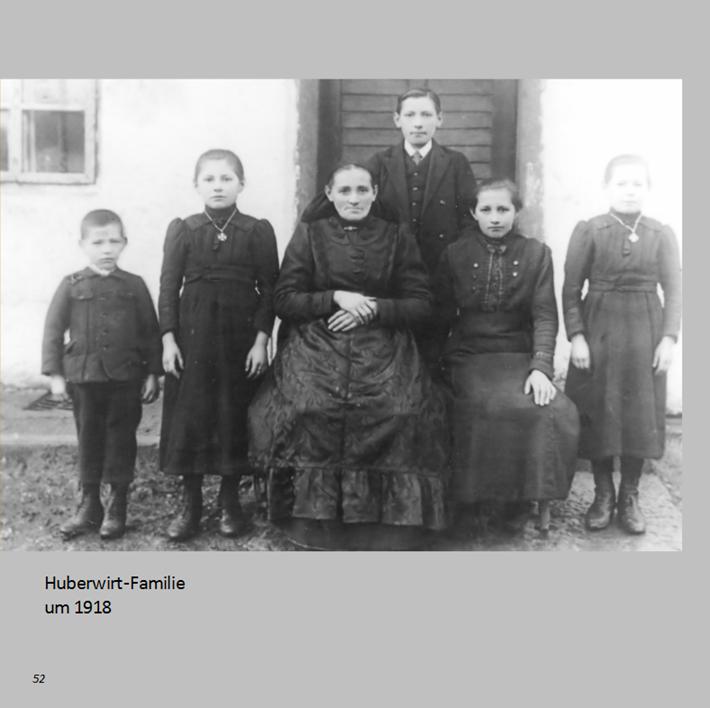 Huberwirt-Familie in Ottmaring um 1918