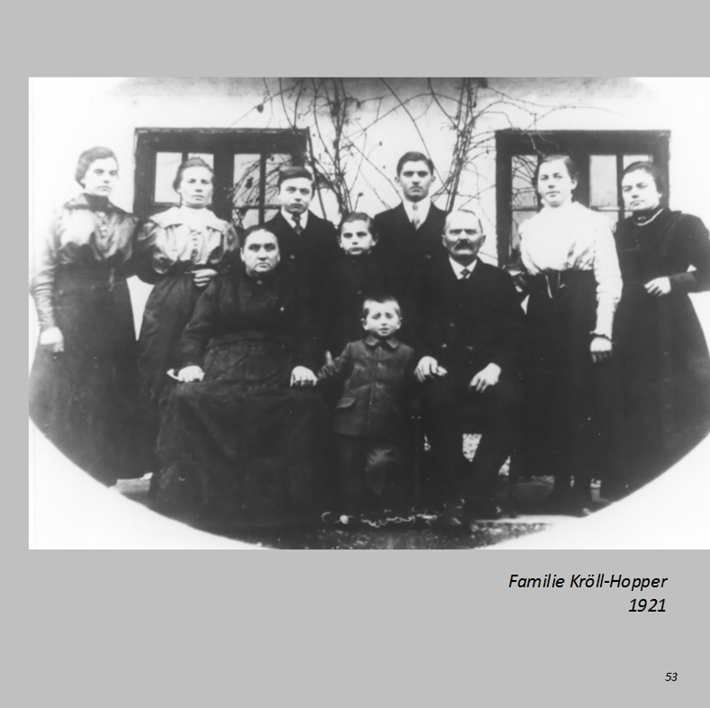 Familie Kröll-Hopper in Nindorf 1921