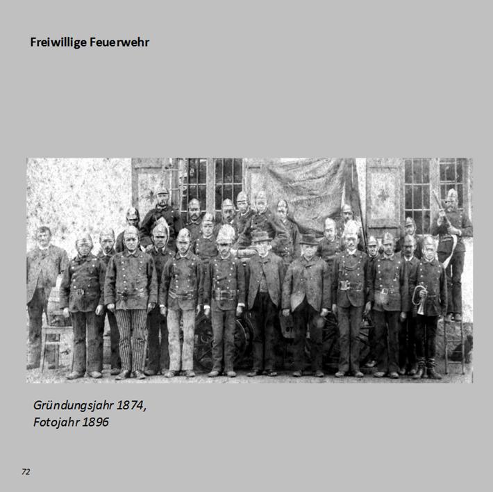 Freiwillige Feuerwehr in Ottmaring, Gründungsjahr 1874, Fotojahr 1896