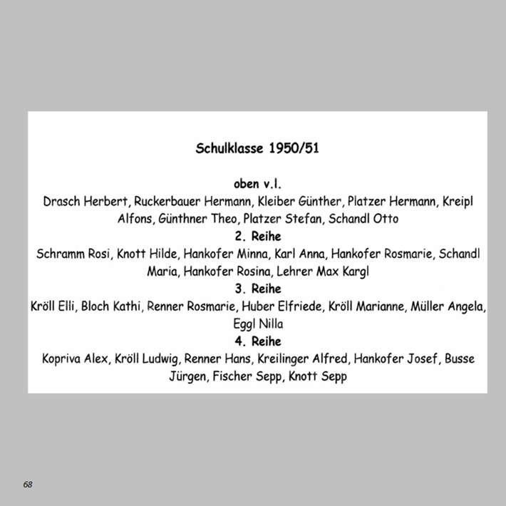 Schulklasse 1950/51 in Ottmaring