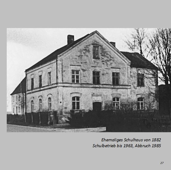 Ehemaliges Schulhaus in Ottmaring von 1882 Schulbetrieb bis 1963, Abbruch 1985