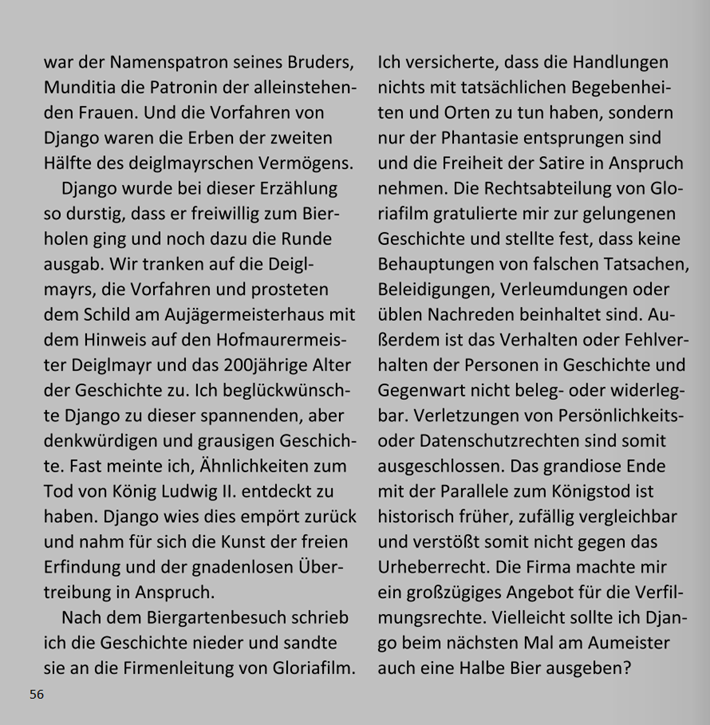 Django und das Erbe des Deiglmayrs vom Aumeister