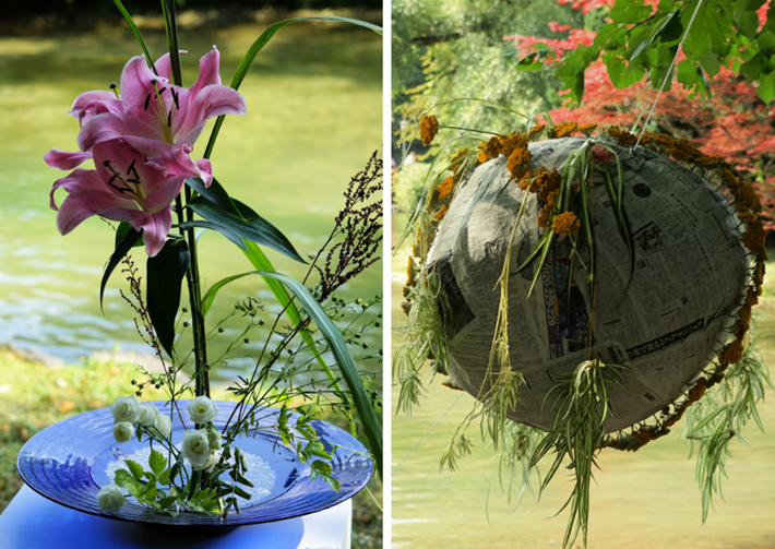 Blumenkunst beim Japanfest