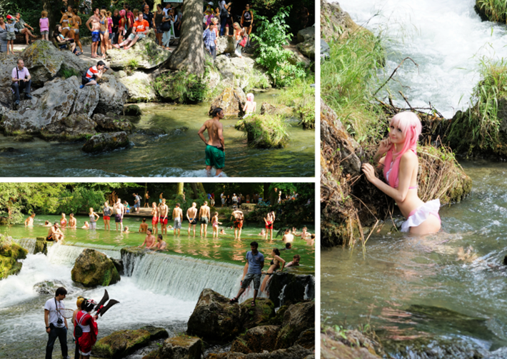 Fotoaufnahmen am Wasserfall
