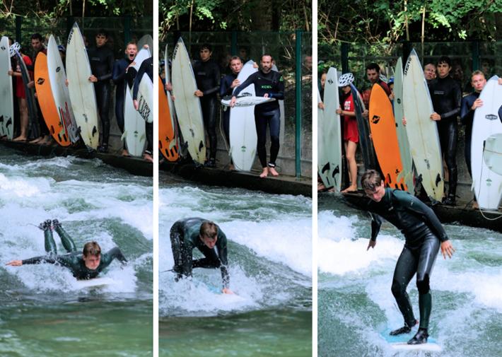 Surfen auf der Dianabadschwelle