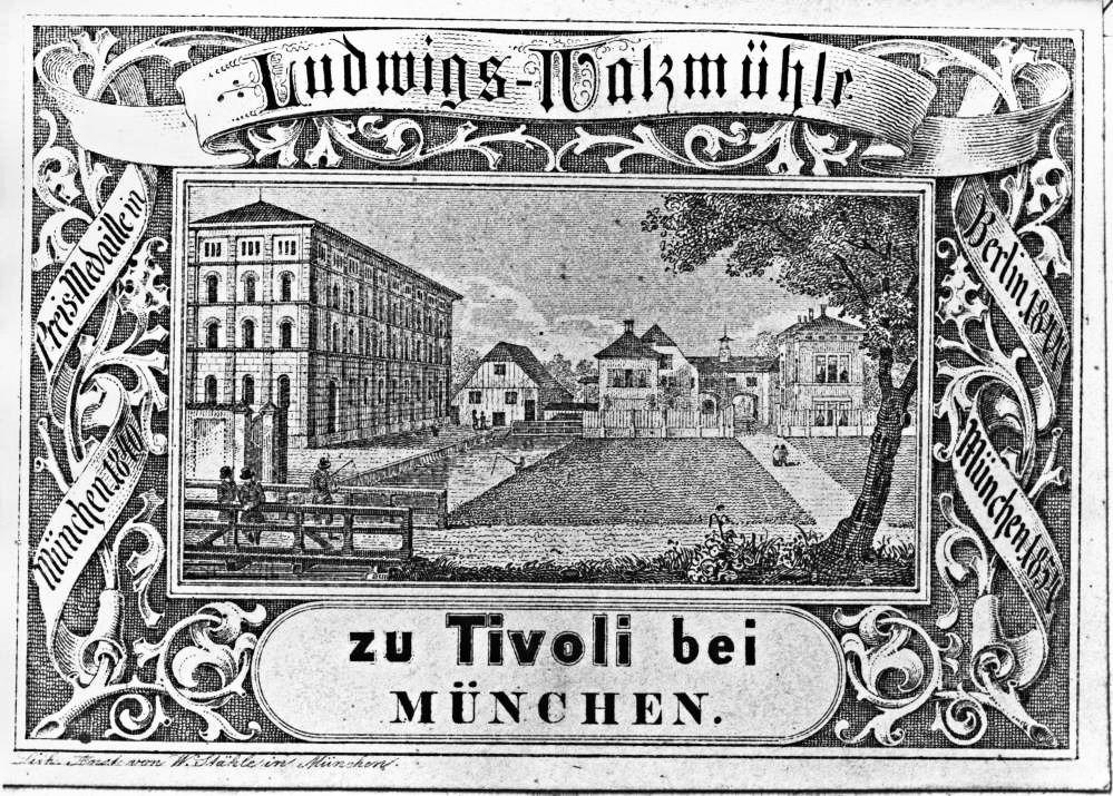 Ludwigs-Walzmühle 1855