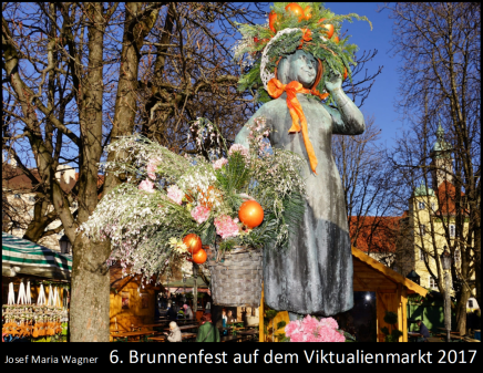6. Brunnenfest auf dem Viktualienmarkt2017