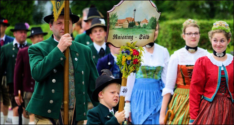 Heimat- und Trachtenverein Raisting-Sölb beim Heimattag Huosigau 2017