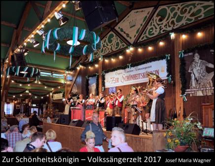 Zur Schönheitskönigin Volkssängerzelt 2017