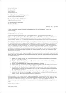 Offener Brief mit E-Mail an die Bürgerberatung des Oberbürgermeisters und an den Bezirksausschuss