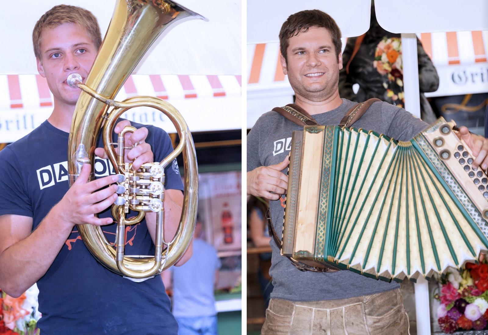 Markus Moosburger und Strefan Brock sind zwei Drittel Bauernseufzer