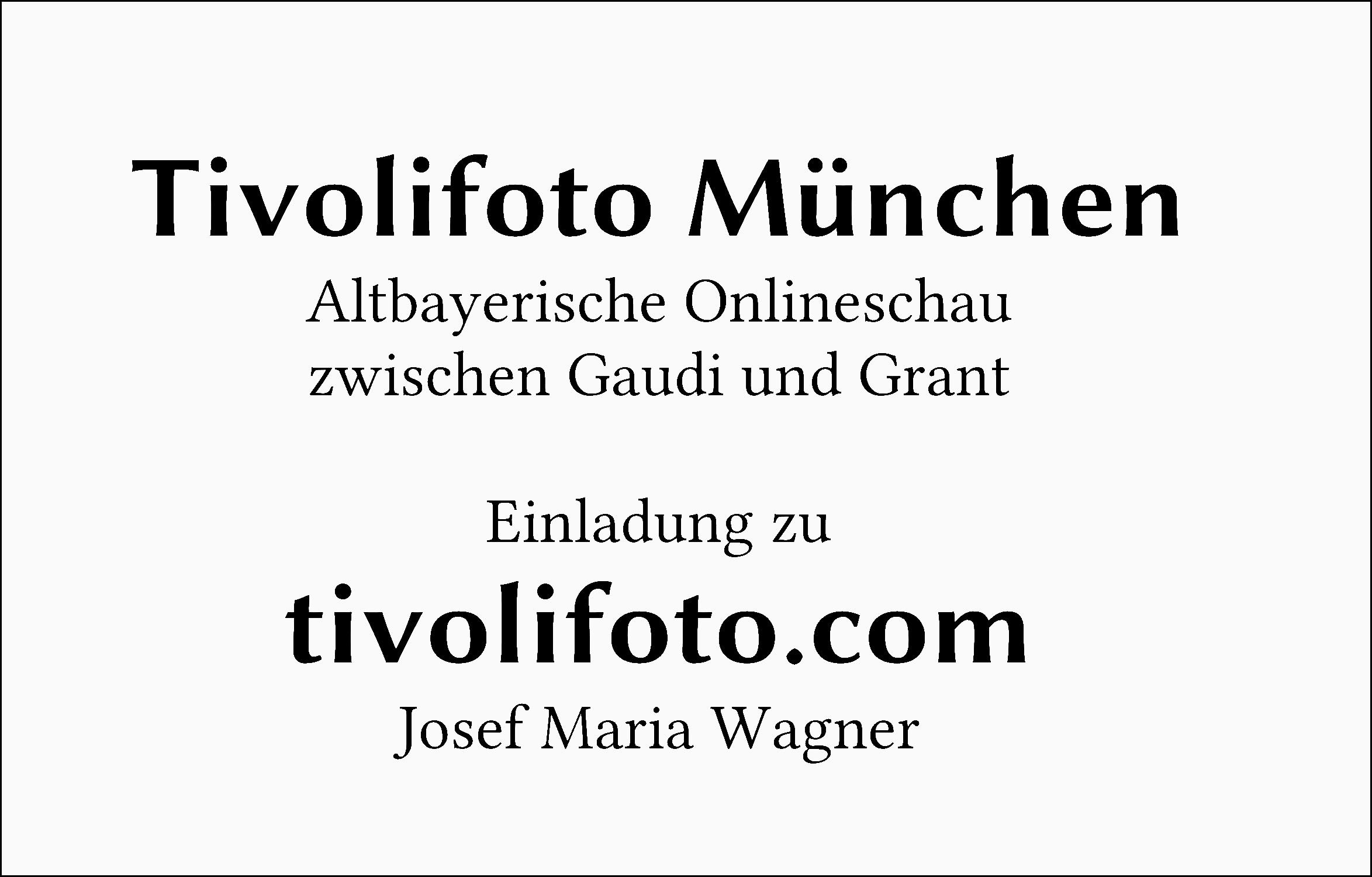 Einladung zum Besuch von Tivolifoto München mit Link zur Startseite