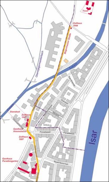 Bogenhauser Straße Lageplan 2017. Der Besuch des hier verlinkten Beitrags im NordOstMagazin ist sehr empfehlenswert.