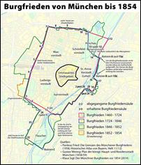 Burgfrieden von München bis 1854