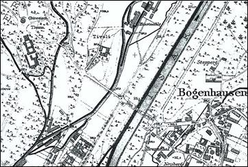 Tivoli auf der Stadtkarte von 1891