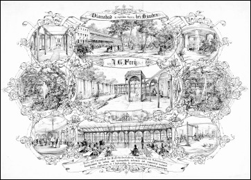 Dianabad des J. G. Frey im Englischen Garten - 1858