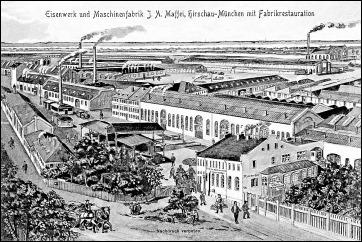 Industrieanlagen, Eisenwerk und Maschinenfabrik Maffei - 1910