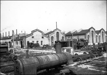 Ansicht der Lokomotivenfabrik Maffei von 1905