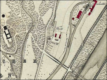 Kartenausschnitt Ortsblatt Tivoli 1833